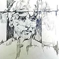 Drawing Of A Man by Jolante Hesse
