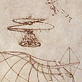 Drawings By Leonardo Divinci by Science Source