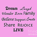 Dream Laugh Wonder Love Family And More by Traci Cottingham