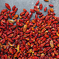 Dried Chili Peppers by Carlos Caetano