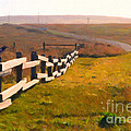 Driving Down The Lonely Highway . Study 1 . Painterly by Wingsdomain Art and Photography