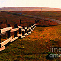 Driving Down The Lonely Highway . Study 2 . Painterly by Wingsdomain Art and Photography
