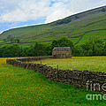Dry Stone Walls And Stone Barn by Louise Heusinkveld