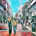 Dublin Grafton Street by Yury Malkov