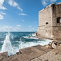 Dubrovnik Fortification And Pier by Artur Bogacki