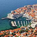 Dubrovnik Old City Aerial View by Artur Bogacki