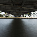 Duluth Lift Bridge Under 2 by John Brueske