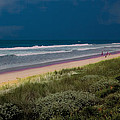 Dunes And Ocean Divided by DigiArt Diaries by Vicky B Fuller