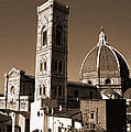 Duomo And Campanile Of Florence by Donna Corless