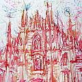 Duomo City Of Milan In Italy Portrait by Fabrizio Cassetta