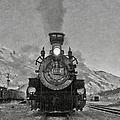 Durango Silverton Bw Painterly 3 by Ernie Echols