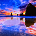 Dusk At Cannon Beach by Dominic Piperata