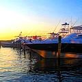 Dusk At The Marina by Leah Zipkin