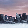 Dusk On The Winter Solstice At Stonehenge 1877 by Alys Caviness-Gober