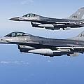 Dutch F-16ams During A Combat Air by Gert Kromhout