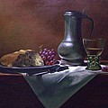 Dutch Roemer With Bread And Grapes by Tom Jennerwein