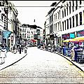 Dutch Shopping Street- Digital Art by Carol Groenen