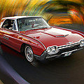 Early 60s Red Thunderbird by Mick Anderson
