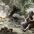 Early Humans Making Pottery by Sheila Terry