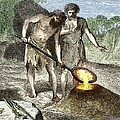 Early Humans Smelting Bronze by Sheila Terry