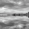 Early Morning At Inverary Black And White Version by Gary Eason