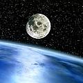 Earth And Moon by Julian Baum