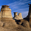 Earth Pillars (hoodoos) In Alberta Badlands Canada by David Nunuk