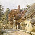 East Hagbourne Berkshire by Helen Allingham