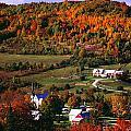 East Orange Village In Fall, Vermont by Bilderbuch