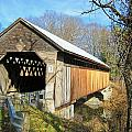 Edgell Covered Bridge by Wayne Toutaint