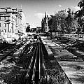 Edinburghs New Tram System Under Construction In St Andrews Square Scotland Uk United Kingdom by Joe Fox