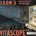 Edisons Vitascope, 1896 by Granger