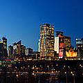 Edmonton Skyline Panorama 2 by Terry Elniski