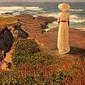 Edwardian Lady By The Sea by Jill Battaglia