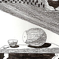 Egg Drawing 019613 by Phil Burns