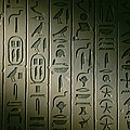 Egyptian Hieroglyphics Decorate by Kenneth Garrett