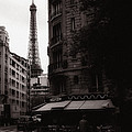 Eiffel Tower Black And White 2 by Andrew Fare