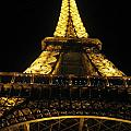 Eiffel Tower In Lights by Angela  Rose