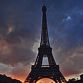 Eiffel Tower Sunset by Jeff Rose