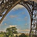 Eiffet Tower Up Close by Chuck Kuhn