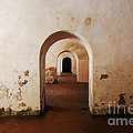 El Morro Fort Barracks Arched Doorways San Juan Puerto Rico Prints by Shawn O'Brien