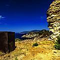 Elba Island - Rusty Iron Cube Landscape - Ph Enrico Pelos by Enrico Pelos