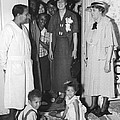 Eleanor Roosevelt Visiting A Wpa Works by Everett