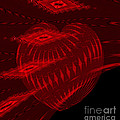 Electric Red Heart 3 by Anne Kitzman