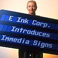 Electronic Ink Sign by Volker Steger