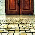 Elegant Door And Mosaic Floor by Jill Battaglia