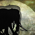 Elephants On Moonlight Walk 2 by Kaye Menner