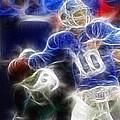 Eli Manning Ny Giants by Paul Ward