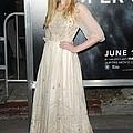 Elle Fanning Wearing A Vintage Dress by Everett