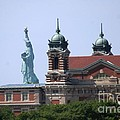 Ellis Island And Statue Of Liberty by Living Color Photography Lorraine Lynch